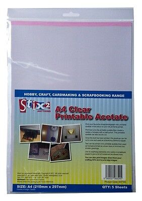 A4 Acetate Sheets Clear Inkjet Printable Sheet Stix2