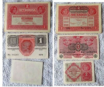 Near Crisp Condition Austria-Hungary And Austria Banknotes 1916-1922