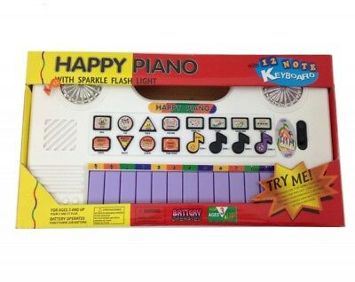 T647 Happy Piano Keyboard Music for Children with LED Lights D0