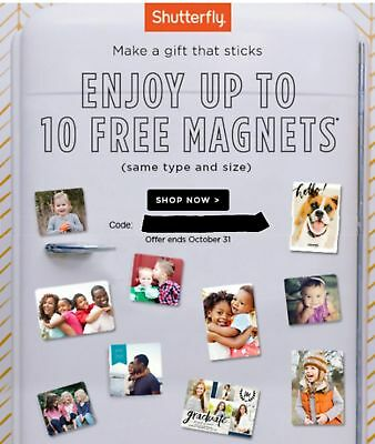 SHUTTERFLY Code - ENJOY Up To 10 MAGNETS!!- Unique Code! - HURRY! - Exp 10/31