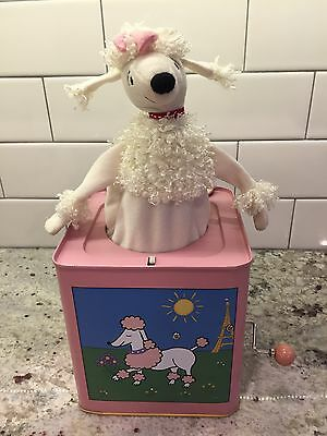 Fifi the French Poodle Musical Jack in the Box By Jack Rabbit Creations Pink