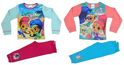 Shimmer and Shine Girls Pyjamas Sleepwear PJs Ages 18 months to 5 Years