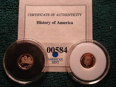 Mini 14Kt Gold Cuba Crisis 1962 10 Dollars Lot Of 2 Coins See Photo's
