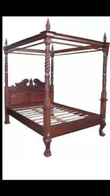 Kingsize Mahogany Four Poster Bed
