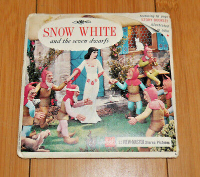 Snow White & The Seven Dwarfs 1955 Viewmaster Reels With Booklet B300   (944)