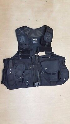 Original Ex Police Arktis Tactical Black Speed Cuffs Baton Taser Vest Large L #4