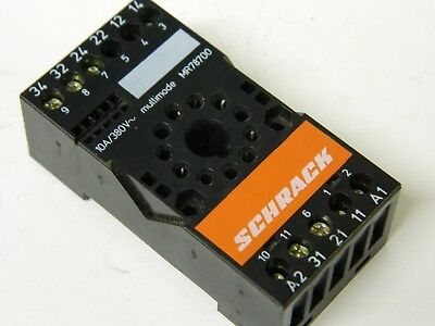 Schrack MR78700 multimode 11pin Relay Base 380vac 10A