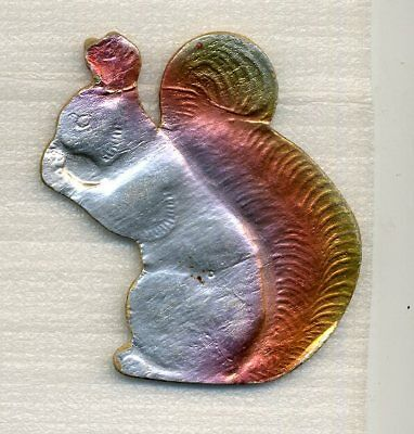 SQUIRREL  Antique Cardboard Christmas Ornament Toy Russian