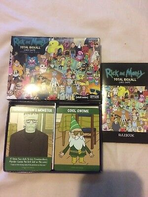 Rick And Morty Total Rickall card game with nerd block exclusive cards
