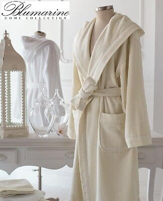 BLUMARINE HOME COLLECTION. Bademantel unisex Resort. Schwamm,Baumwolle