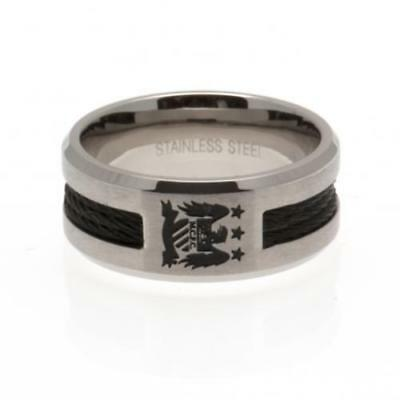 Official Football Manchester City F.C. Black Inlay Ring Small Xmas Gift