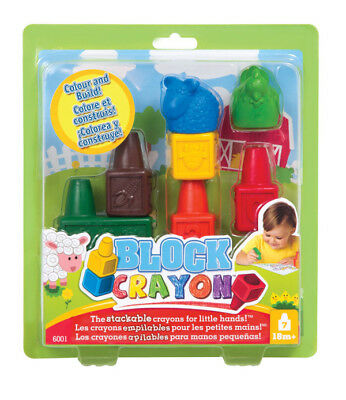 New Style Me Up Wooky Mixy 6001 Stacking Crayons Art 7-Piece Set Age 18 Months+