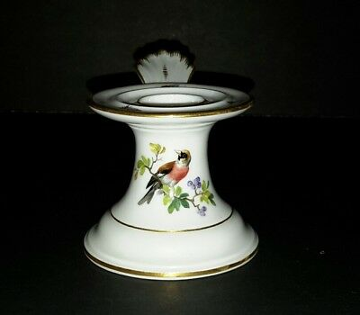 Antique Meissen Candle Holder- Bird & Insects