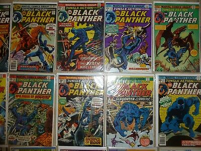 Mix lot Marvel comics Black Panther Jungle Action in here free shipping low bid