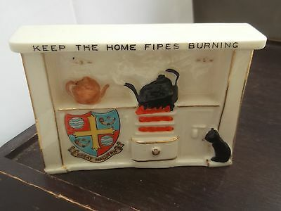 Vintage Shelley China Fireplace Crested  Great Malvern