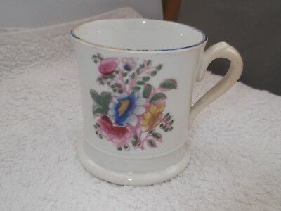 ?vintage Shaped Small Beaker / Cup With A Floral Pattern   No Maker    A / F