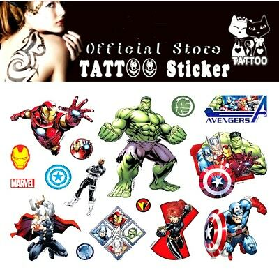❤️ Neues Marvel Superheld Avengers 15 Kinder Tattoos Temporary Wasserdicht