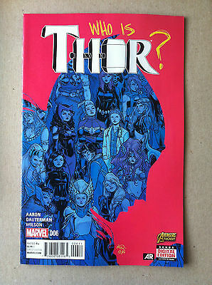Thor (2014) #6 First Printing Near Mint Jason Aaron Russell Dauterman Who Is...?