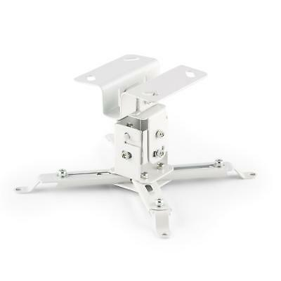 Plafonnier universel videoprojecteur LCD DLP support plafond inclinable blanc