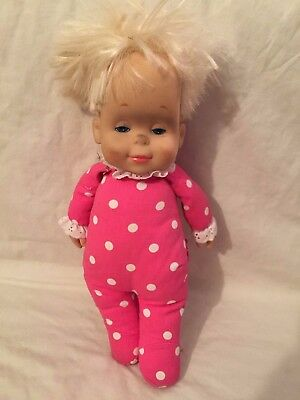 VINTAGE Mattel DROWSY Classic Collection Reproduction Doll Pink Polka Dots