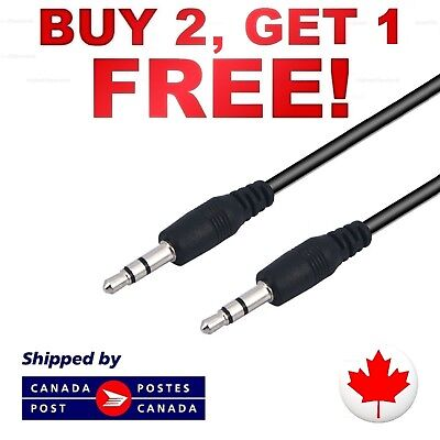 3.5mm Male to Male Aux Auxiliary Audio Cable Music Stereo Sound