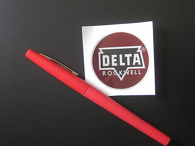 "2"" DELTA ROCKWELL DECAL- for vintage Delta machinery - badge, nameplate, tag"