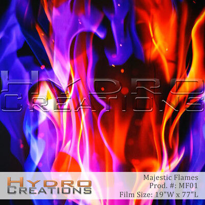 Hydrographic Film For Hydro Dipping Water Transfer Film Majestic Flames