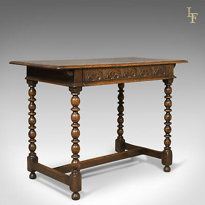Georgian Antique Side Table, English, Oak, 18th Century c.1780