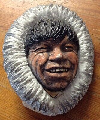 Vintage Eskimo Chalk Head Face Plaque