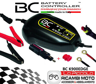 Carica Batterie Bc K900 Edge + Can Bus + Accendi Sigari Mantenitore Acido Gel