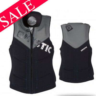 2017 Mystic Star Comp Wakeboard Impact Vest Zip Black X-LARGE SAVE 30%