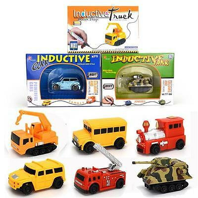 2017 Magic Follow Any Drawn Line Pen Inductive Toy Car Truck Bus Tank Model