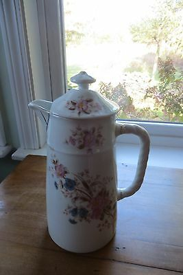 Beautiful Old Mark & Gutherz Carlsbad Hand Painted Pitcher Pink Floral Design