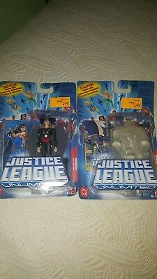Justice League Unlimited Lot of 2 NEW Action Figures Martian Manhunter Hawkgirl