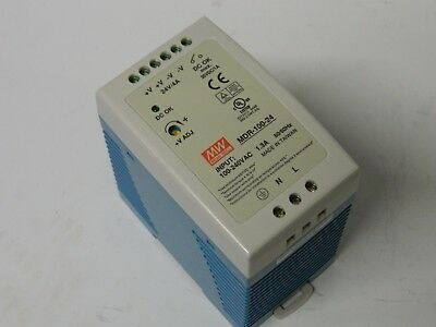MeanWell MDR-100-24 PSU 24vdc 4A DIN Power Supply 100-240vac