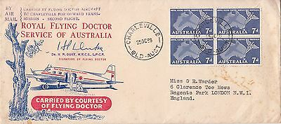 Australia: Special Flying Doctor Service Cover, Charleville-London, 25 Oct 1958
