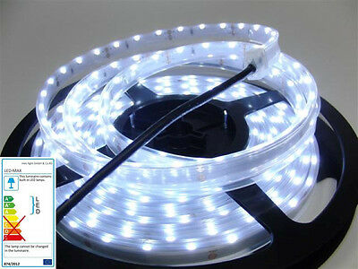 1M Side Vue LED / SMD rayures -argenté- 60x SMDs / M - Blanc Froid(6000K) IP67