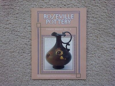 """Roseville Pottery Price Guide -- No. 9 -- Huxford -- """"collectible"""""""