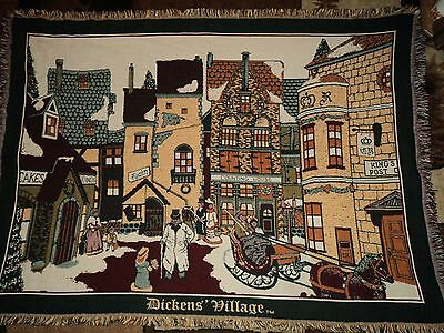 Department 56.dickens Village Series.cotton.3 Layer.woven Afghan/throw.blanket