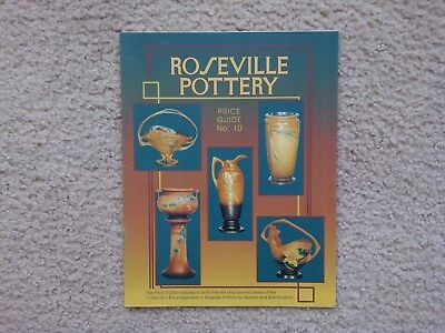 """Roseville Pottery Price Guide -- No. 10 -- Huxford -- """"collectible"""""""