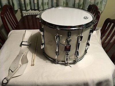 Marching Drum Premier 1049s White Snare Drum 14x12""