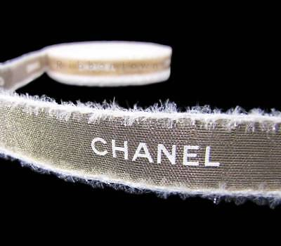 """100% Authentic Chanel Gold Fuzzy Furry Edge Ribbon 1/2""""W - Great 4 gift wrapping"""