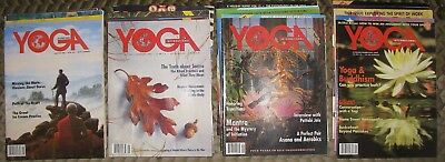4 Complete Years Yoga International Magazine Lot 1992 1993 1994 1995 Free Ship!!