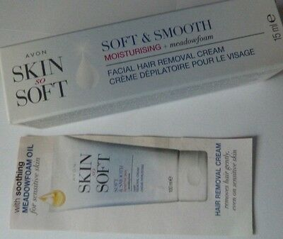 AVON'S SKIN SO SOFT FACIAL HAIR REMOVAL CREAM ~ 15ml ~ BRAND NEW IN BOX