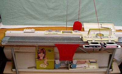 Empisal Knitmaster 305 Automatic Knitting Machine With Accessories