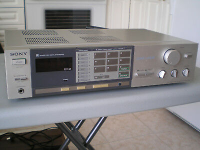 Vintage Sony STR-VX33 Silverface AM / FM Stereo receiver for Parts or Repair