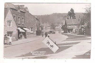 RP Broadway High Street Worcestershire Percy Simms Chipping Norton No.166 unused
