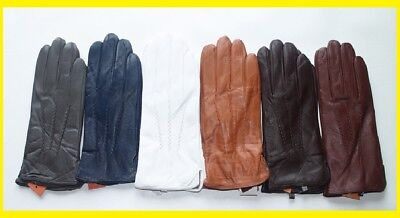 Colored Genuine Leather Men Gloves