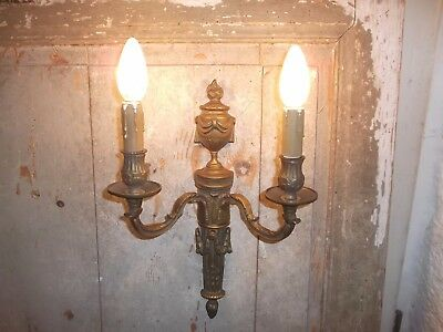 French single of gold patina bronze wall light sconce antique awesome