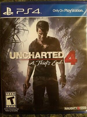 PlayStation PS4- UNCHARTED 4: A Thief's End  Video Game- BRAND NEW!!